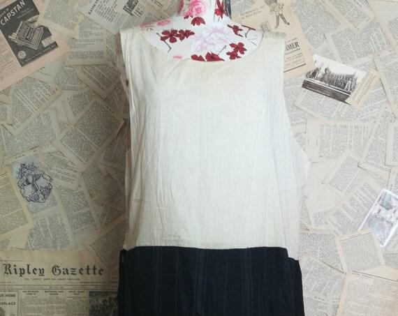 Antique petticoat, Victorian underdress, black taffeta and satin