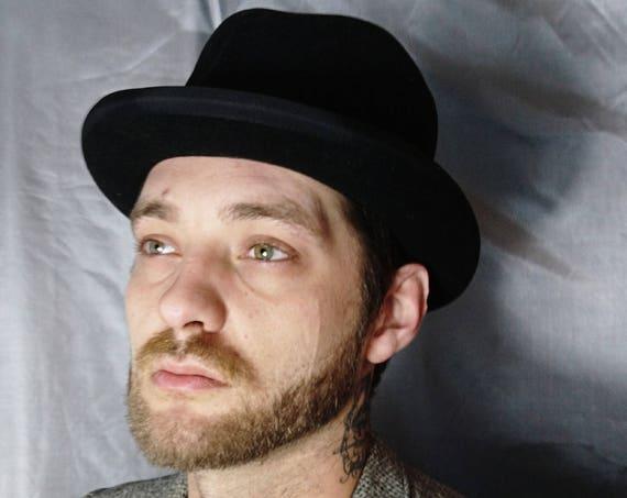 40's Homburg hat, gents vintage hat, Churchill hat, mens formal hats