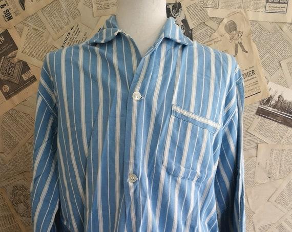 Vintage mens 1940's striped pyjamas, traditional pj's