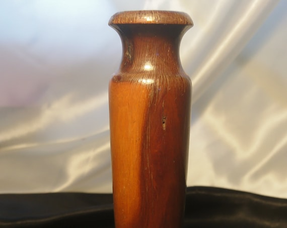 Vintage wooden candlestick, old home decor, candle holder, rustic wooden candlestick, natural wood