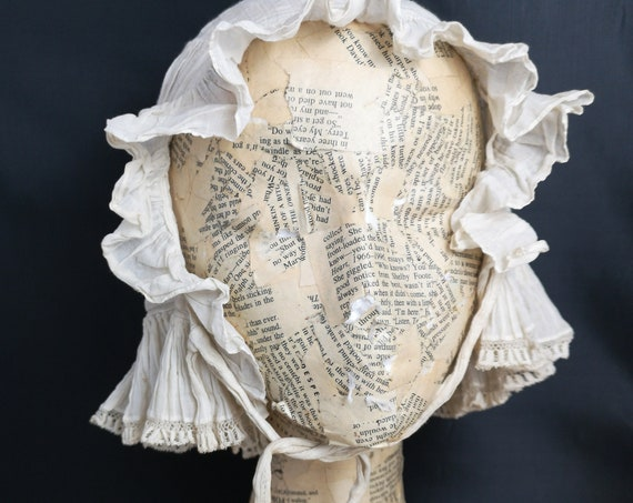 Antique bonnet, victorian whitework, lacework