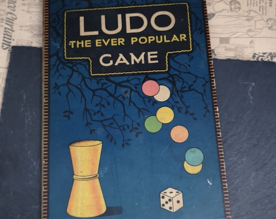 Vintage 30's Ludo game board, old game boards