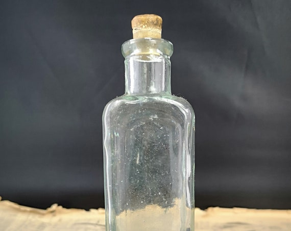 Antique apothecary bottle, glass, early Victorian medicine bottles