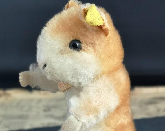 Vintage Steiff hamster, Goldy, ear tag, 1950's