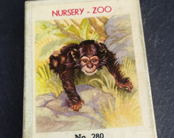 Vintage animal card game, Piatnik Vienna no. 208, family games