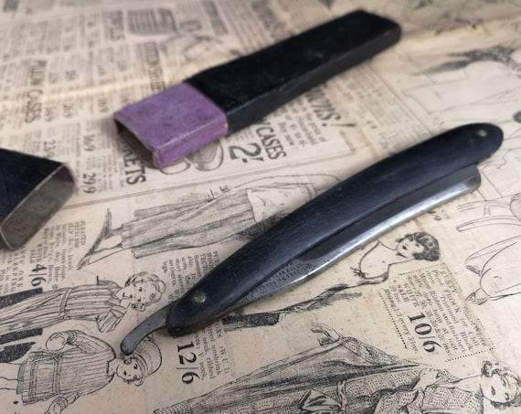 Antique cut throat razor, straight razor, barber's