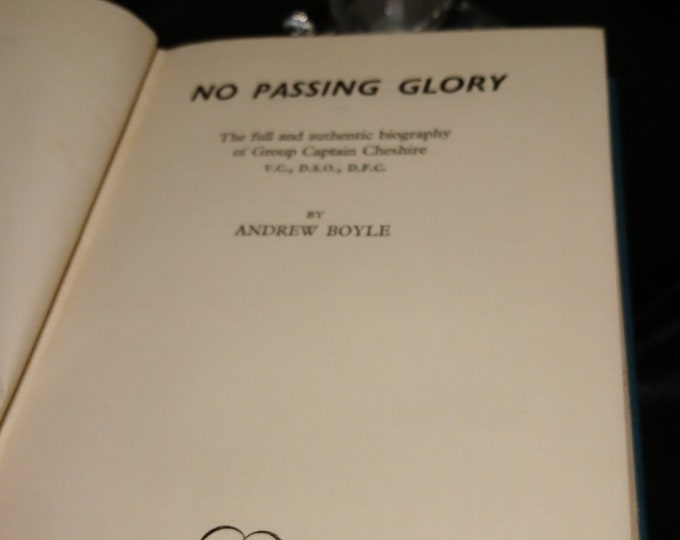 No Passing Glory, Andrew Boyle, 1957 reprint society