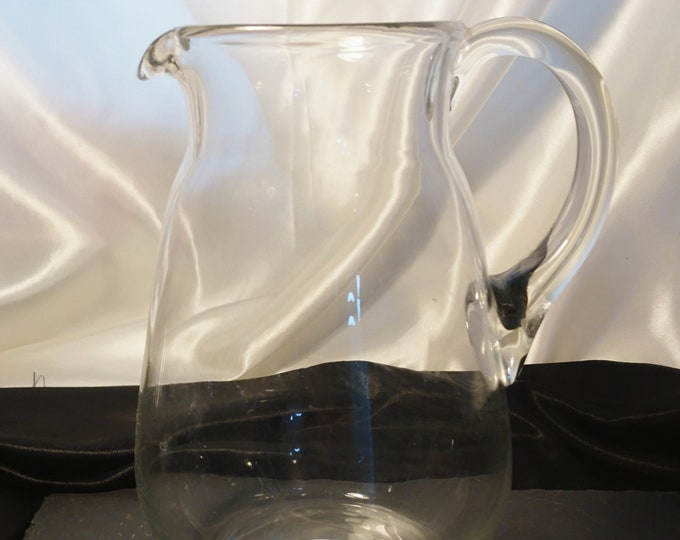 Large vintage glass jug, lemonade, water pitcher, 1920's