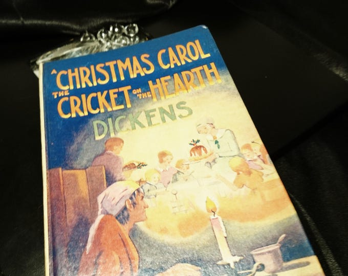 Charles Dickens, A Christmas Carol and the Cricket on the Hearth, juvenile readers library edition, 1920's, vintage books