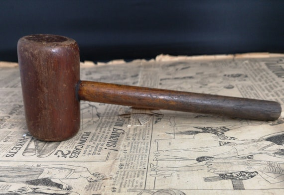 Vintage wooden gavel, 1930's, Treen, auctioneer, judge