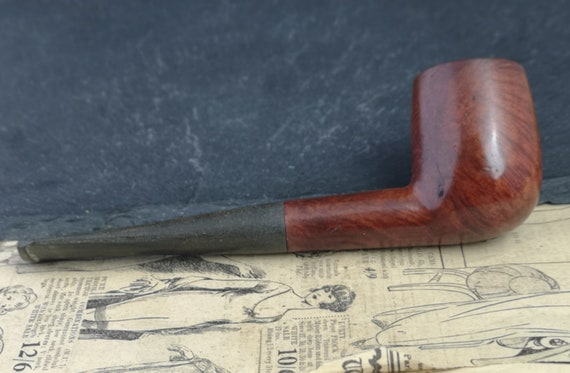 Vintage Italian Briar wood straight pipe, tobacco pipe, estate smoking pipe