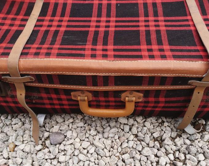 Vintage 1950's suitcase, Langmuir Mirapak, early 50's luggage