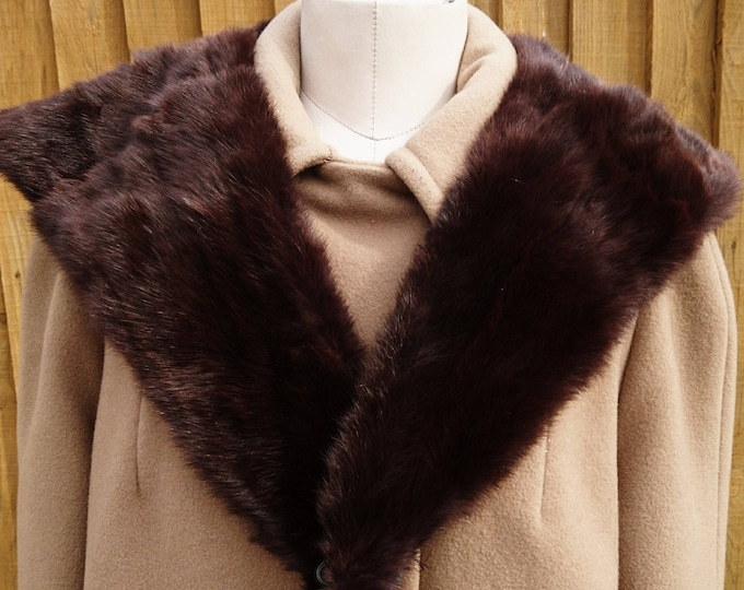50's full mink collar, as new full and super soft vintage mink collar, 50's Hollywood glamour
