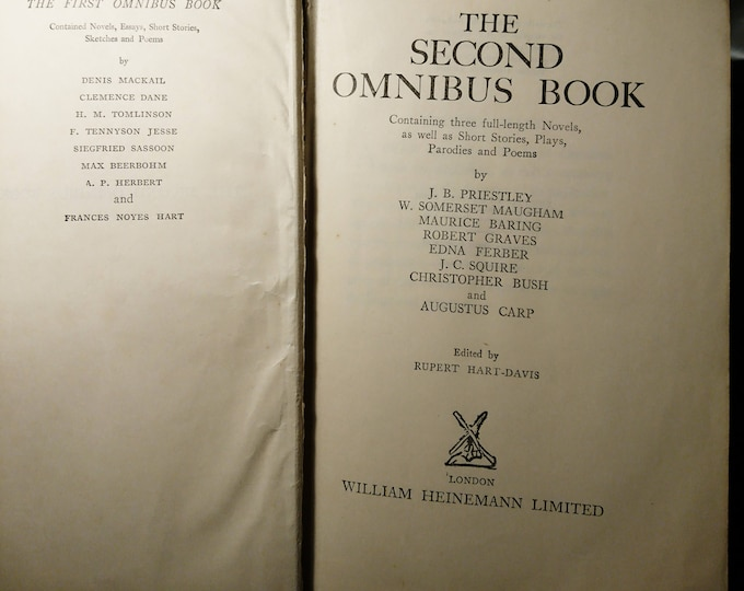 The Second Omnibus Book; Containing Three Full-Length Novels, As Well As Short Stories, Plays, Parodies And Poems, Heinemann, 1930