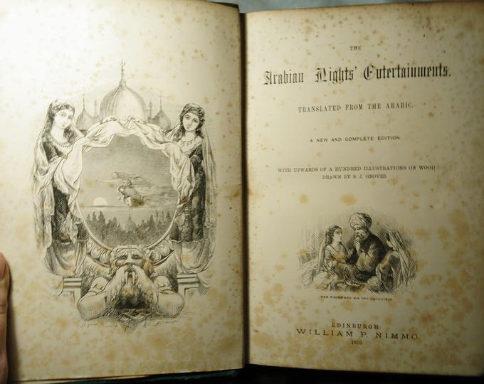 The Arabian Nights Entertainments, A thousand nights, William P Nimmo, 1870, Free Shipping