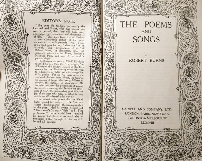 The poems and songs of Robert Burns, Cassell and company, 1908