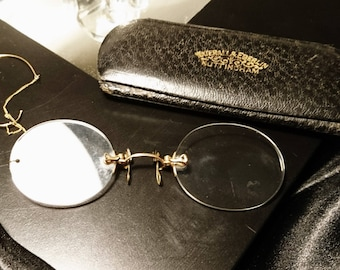 0166de32a4e Antique 9ct gold Pince-nez