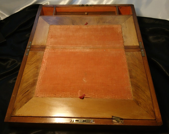 Antique writing box, Victorian writing slope, work box