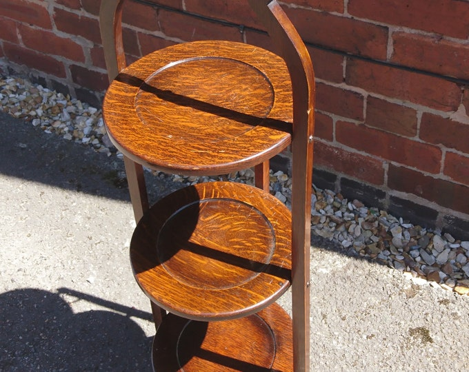 Victorian mahogany cake stand, 3 tier antique cake stand
