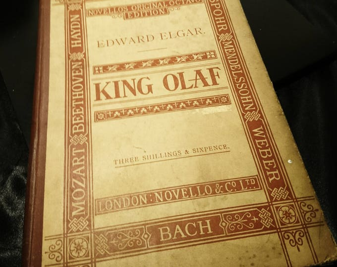Scenes from the Saga of King Olaf by H.W. Longfellow and H.A. Acworth, C.I.E. First Edition 1896, Novello's Original Octavo, Free Shipping