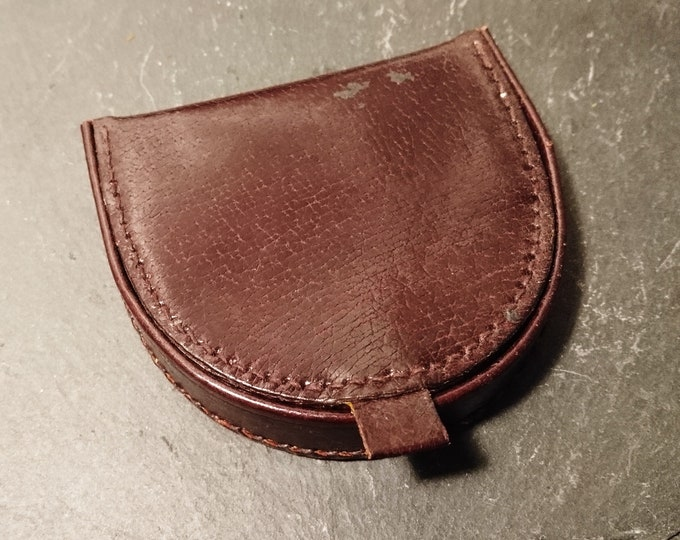 Vintage leather wallet, change wallet, traditional, 1950's gents wallet