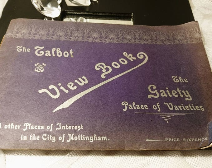 Antique picture book of the Talbot Nottingham and the Gaiety Palace, early 1900's Nottingham ephemera, antique photo book, Frisby & Co