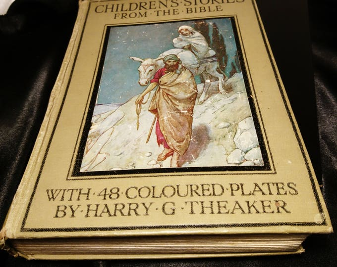 Bible stories for children retold by Blanche Winder, 48 colour plates, c1920, Ward Lock and Co, vintage children's books