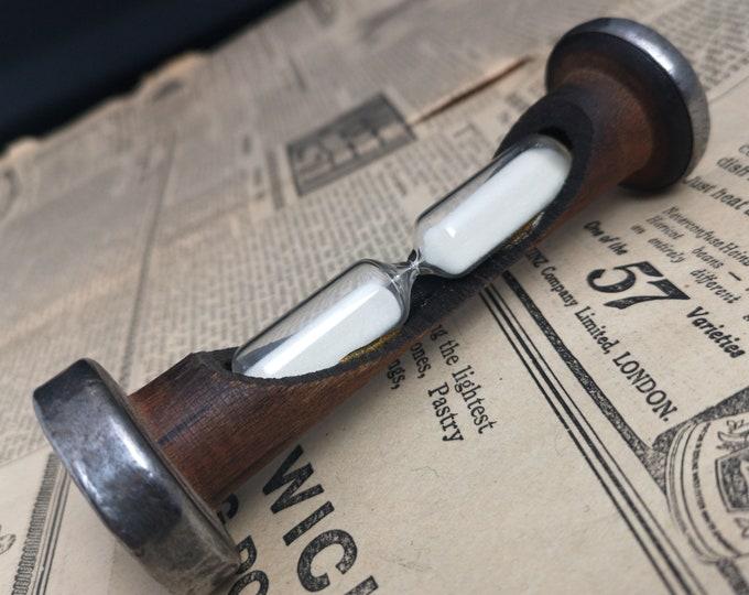 Antique egg timer, Rustic bobbin timer, novelty, sewing antiques, treen