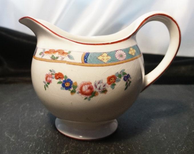 Vintage ceramic jug, J G Meakin, Sol ware, ceramic creamer