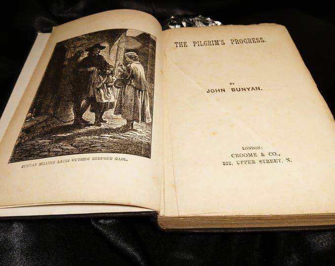 The Pilgrims Progress, John Bunyan, Croome and Co, London, Free Shipping