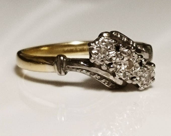 Gorgeous 20's art deco 18ct gold platinum and diamond ring, vintage 18ct gold, vintage platinum ring, art deco engagement ring