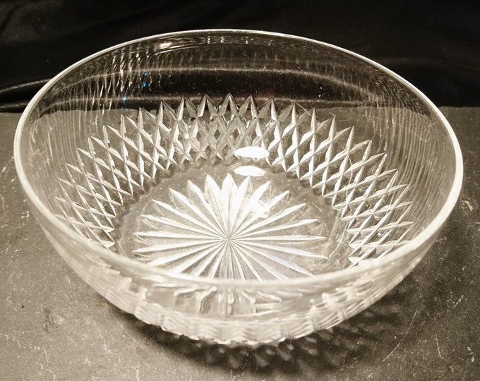 Antique cut glass bowl, starburst design, dessert bowl