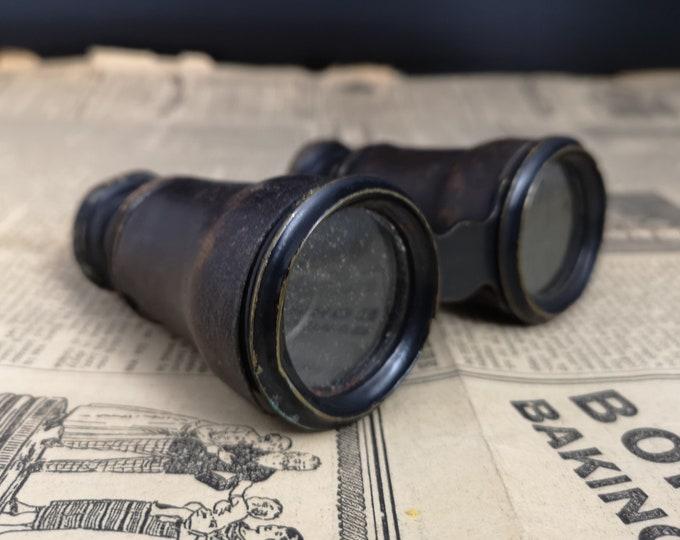 Antique opera glasses, rustic worn, antique theatre glasses, binoculars
