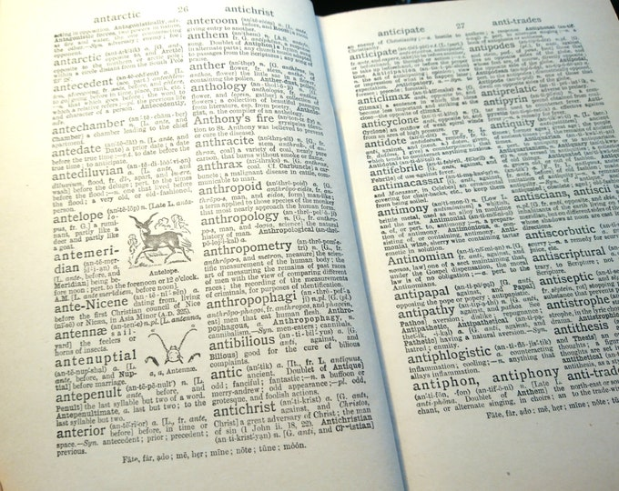 The Modern Standard Dictionary and World Atlas, vintage dictionary and atlas, 1930's