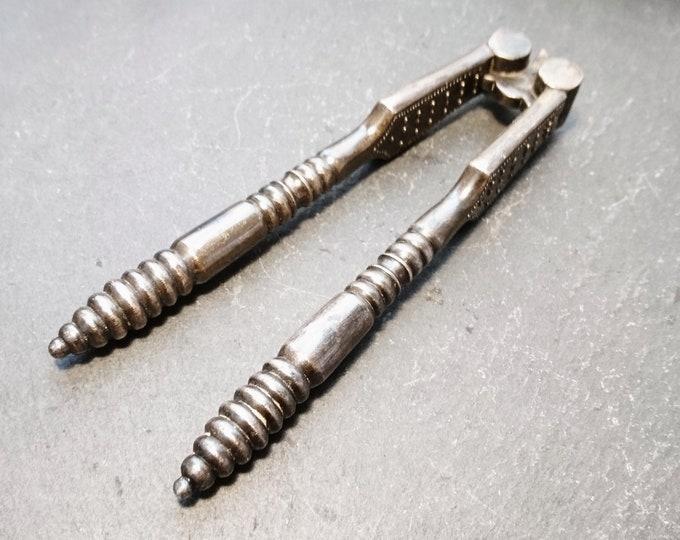 Rustic Antique steel nutcrackers, Victorian era nutcracker, rustic, shabby chic kitchenalia