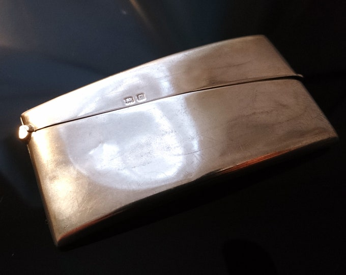 Antique sterling silver card case, no monograms, calling card case