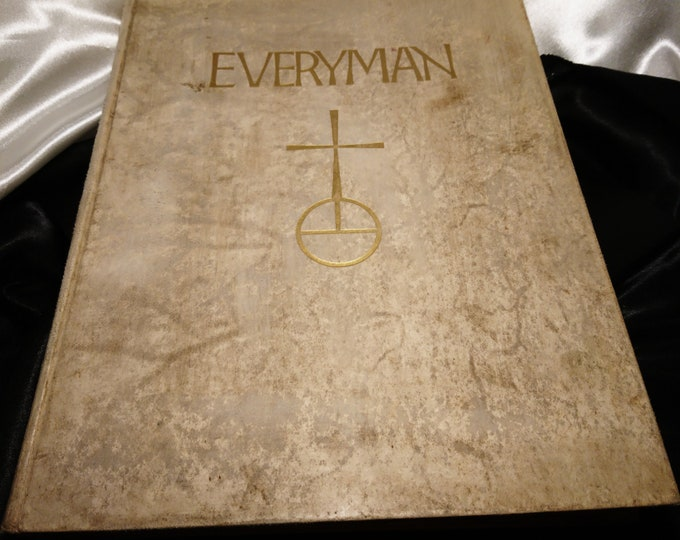 Everyman annual, 1930, first edition, signed by Derrick Thomas, numbered copy 59, Vellum binding