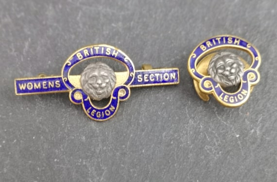 Vintage British legion badges, pair, womens section