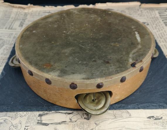 Rustic Antique tambourine, folk instruments