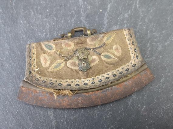 Antique Tibetan flint pouch, purse, Chuckmuck