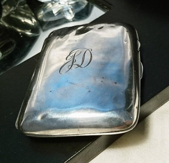 Vintage silver cigarette case 1920's, sterling