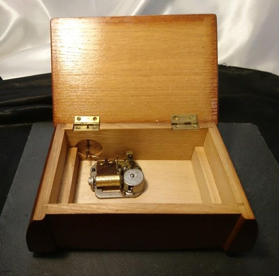Antique music box, Thorens of Switzerland, wooden jewellery / trinket box, Swiss music box