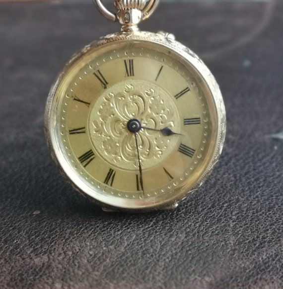 Antique 14ct gold pocket watch, fob watch