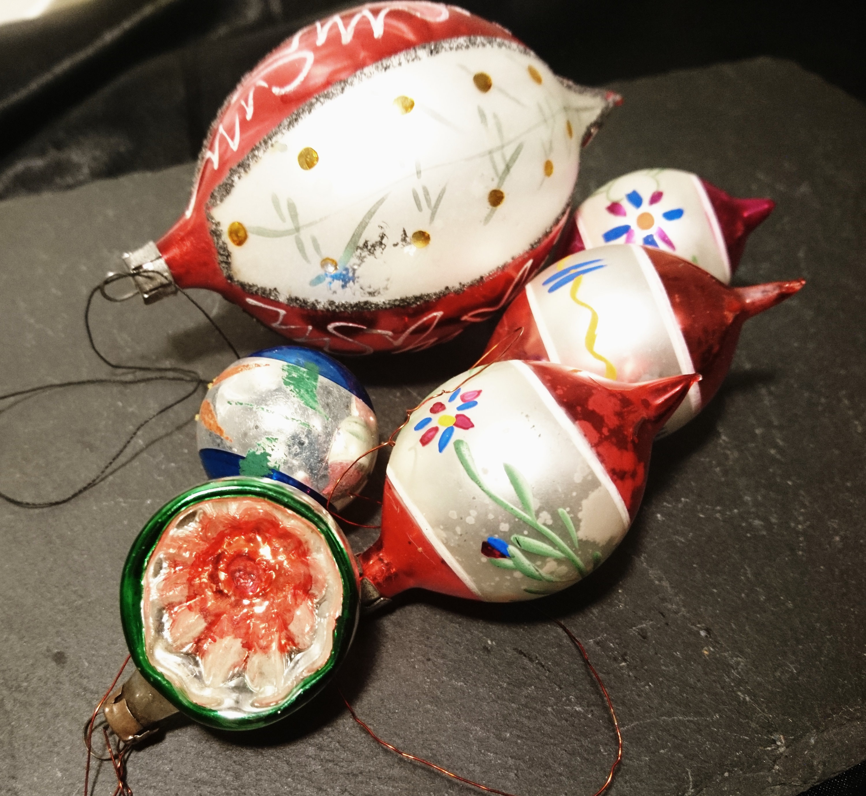 antique christmas baubles blown glass hand decorated christmas decorations 19th century