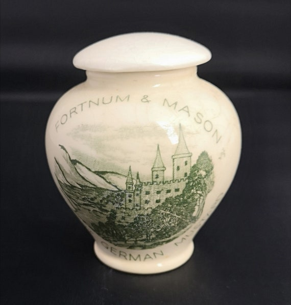 Rustic Vintage mustard pot, Fortnum and Mason, Crown Devon