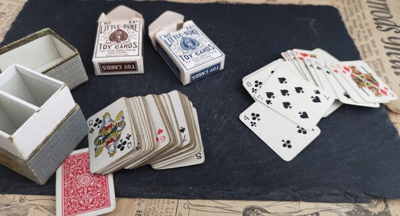 Antique toy playing cards, miniature, little duke USPCC