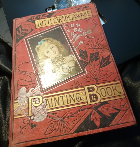 Victorian painting book, Little Wide Awake, illustrations