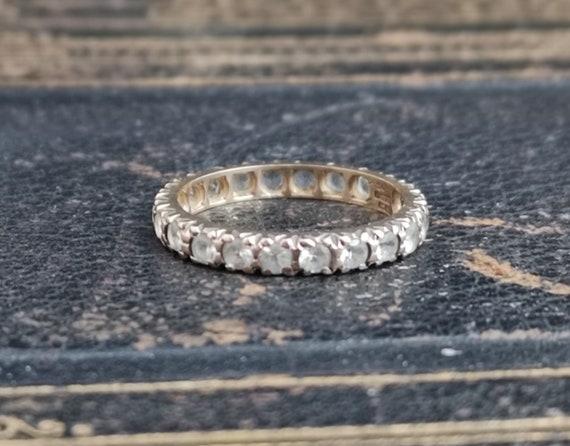 Vintage Art Deco paste eternity ring, 9ct gold