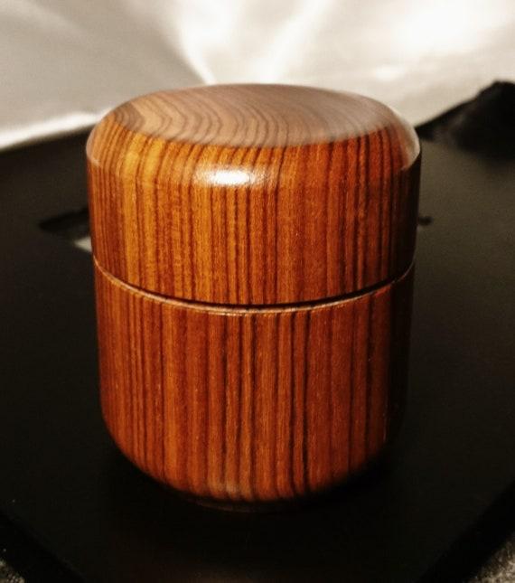 Vintage Kingwood trinket pot, wooden box, keepsake