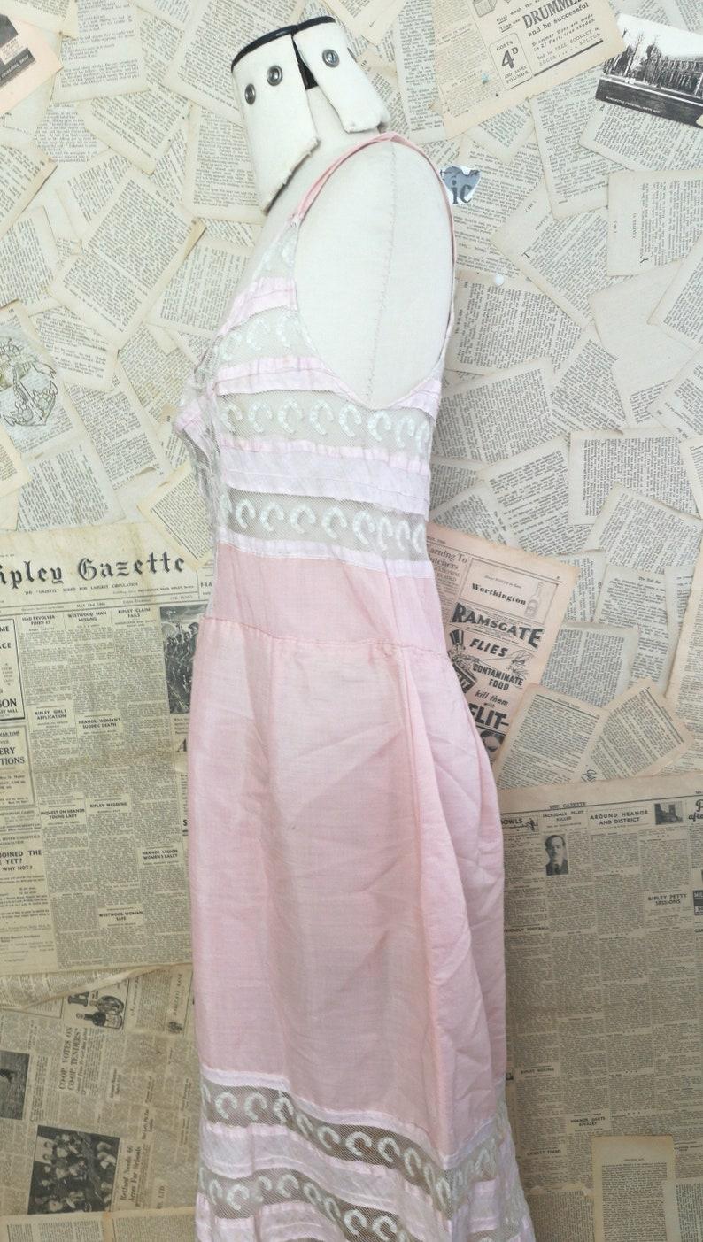 Antique Edwardian slip lace petticoat